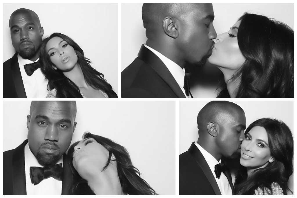 Photo Booth style Pre-wedding Photoshoot Theme inspired by Kardashian and West