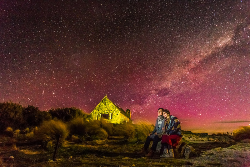New Zealand Starry Night Church of the Good Shepherd Pre-Wedding Photography