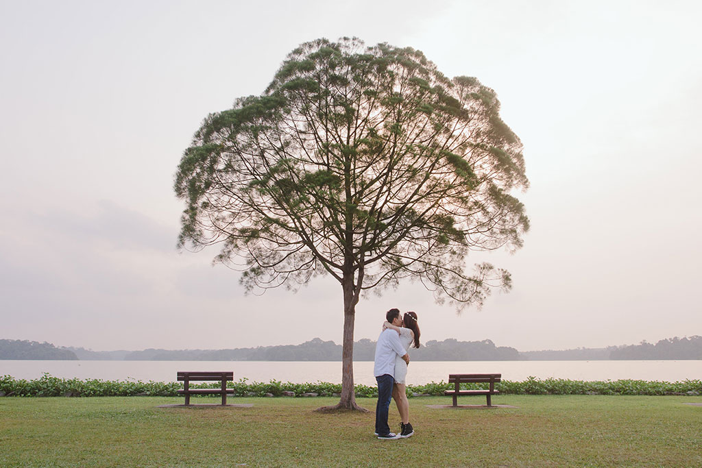 Wedding Photoshoot at Seletar Resevoir Tree by Said & Meant
