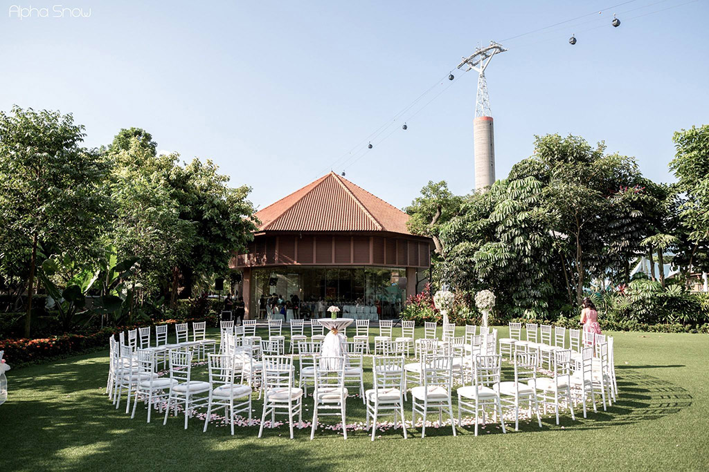 garden wedding singapore resort world sentosa onethreeonefour