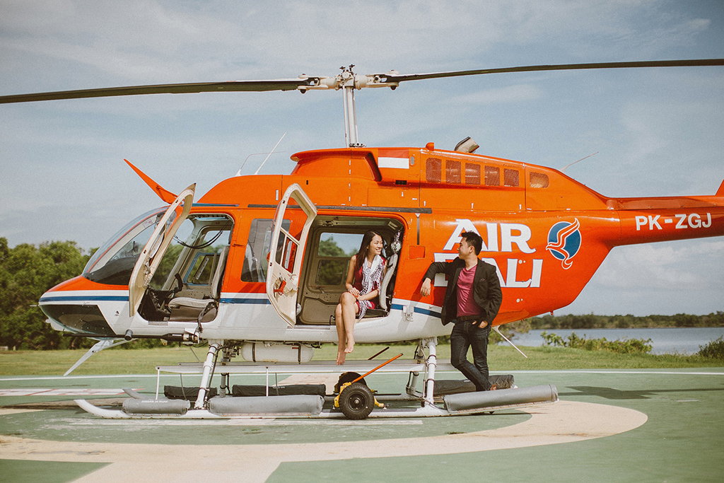 helicopter proposal bali apel photography onethreeonefour