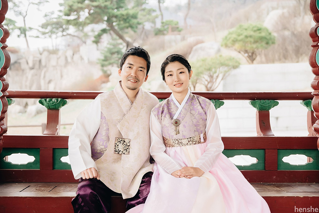 post wedding photoshoot-korea-hanbok-namsangol village-jungyeol-onethreeonefour-17