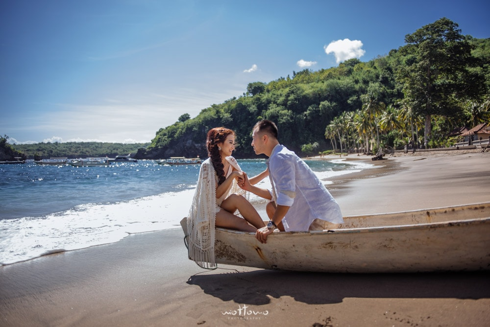 bali pre-wedding in Nusa Penida Crystal Bay