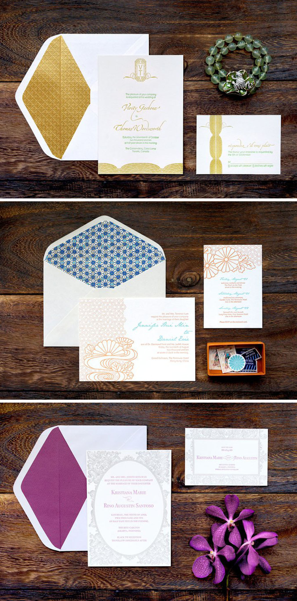 Paper Tiger Press For Luxury Letterpress Wedding Invitation Cards