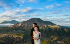 pre-wedding in Bali at Mount Batur