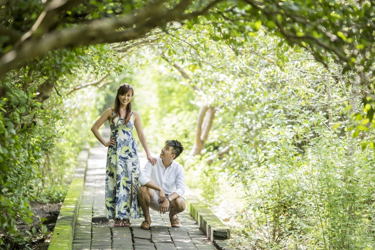 mangrove forest bali prewedding photo