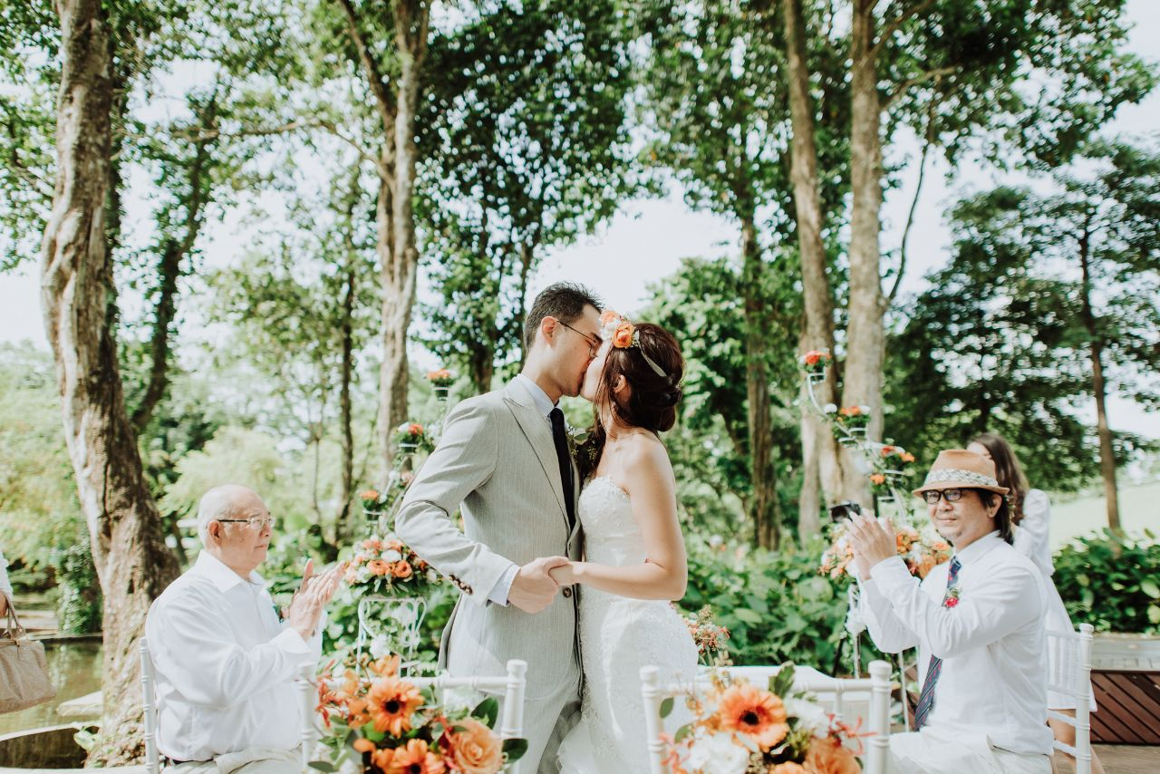 Solemnization at MacRitchie Reservoir Park with styling by Orange Clove weddings