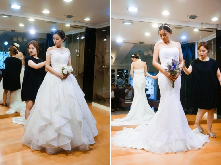 bridemay korea bridal boutique gown fitting