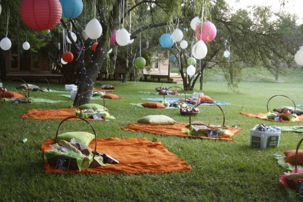 Wedding decoration ideas - Picnic