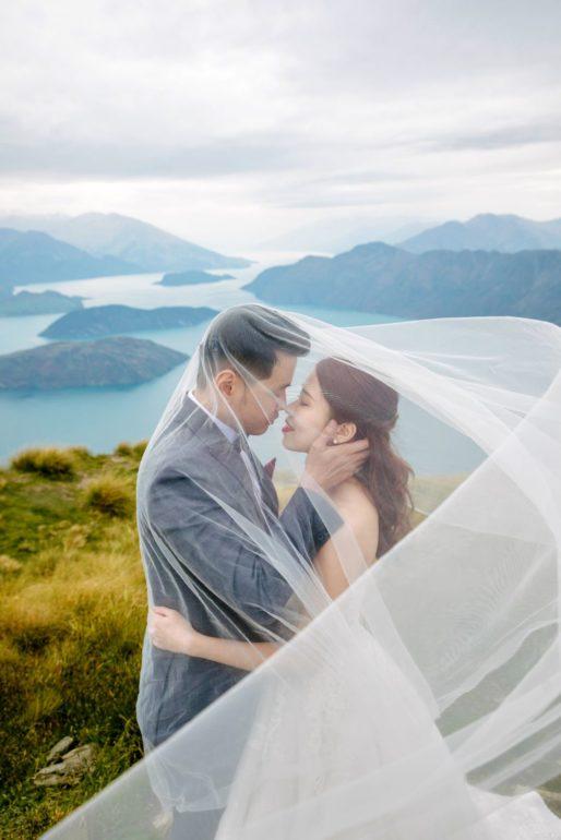 Sesión de fotos de boda en Nueva Zelanda