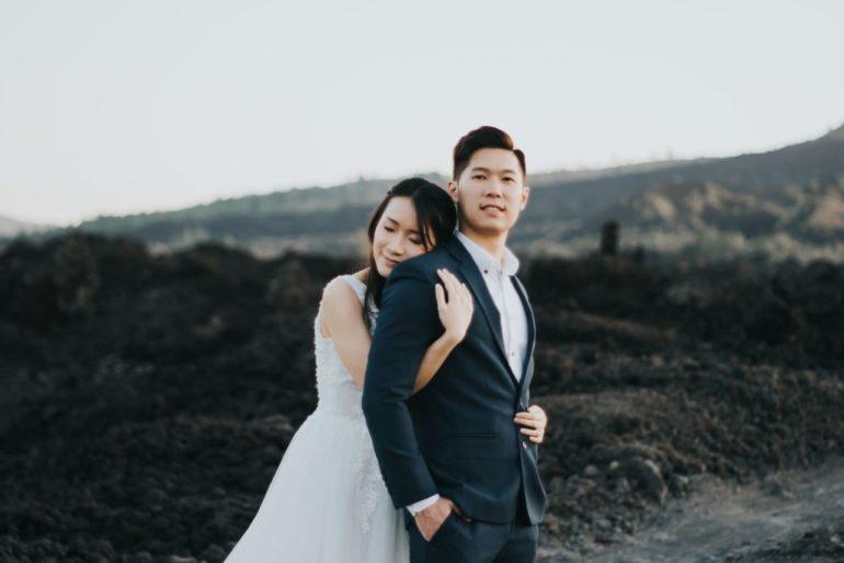 sesión de fotos de boda de bali